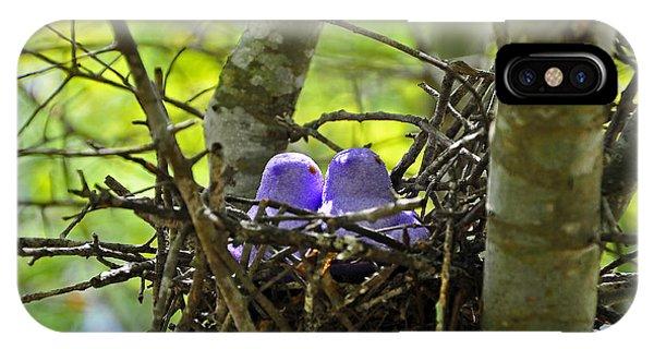 Purple Peeps Pair IPhone Case