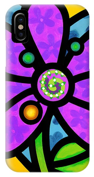 Purple Pinwheel Daisy IPhone Case