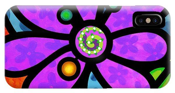 Purple Pinwheel Daisy IPhone Case