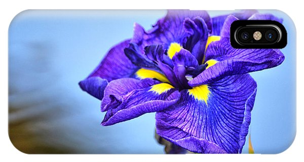 Purple Pond Iris IPhone Case