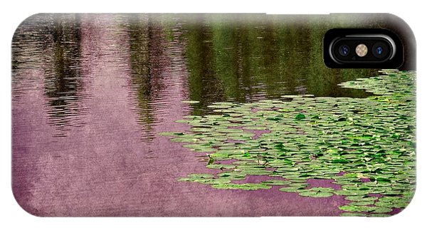 Purple Pond Reflections IPhone Case