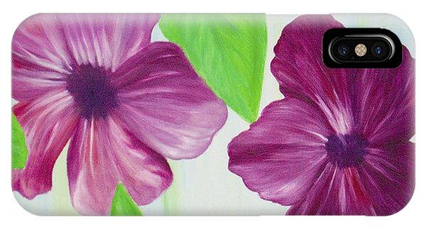 Purple Pop Flowers IPhone Case