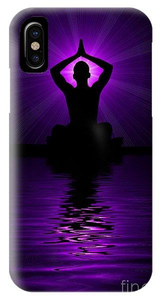Divine Love iPhone Case - Purple Prayer by Tim Gainey