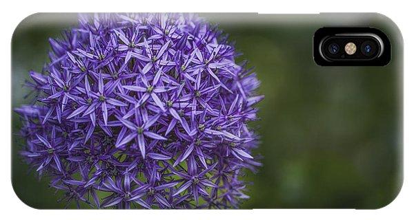 Purple Puff IPhone Case