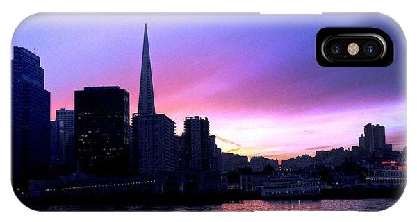 Purple Pyramid IPhone Case
