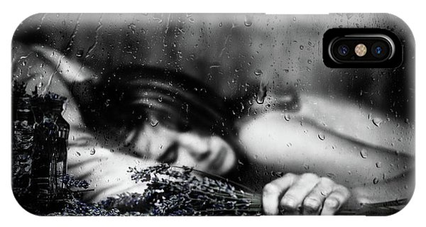 Water Droplets iPhone Case - Purple Rain by Samanta Krivec
