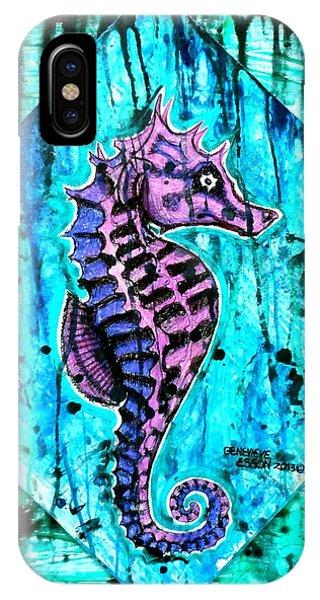 Purple Seahorse IPhone Case