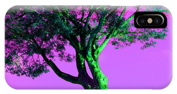 Purple Sky Tree IPhone Case
