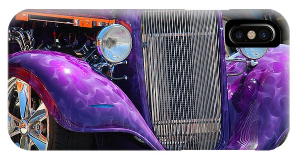 Purple Street Rod IPhone Case