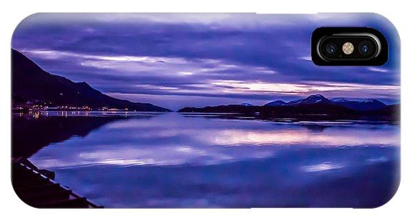 Purple Sunrise In Alaska. IPhone Case