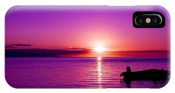 IPhone Case featuring the photograph Purple Sunrise by Yew Kwang
