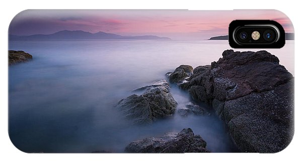 Purple Sunset With Arran Views IPhone Case