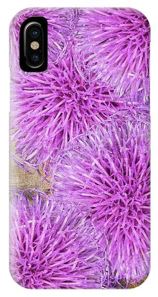 Purple Thistle - 2 IPhone Case