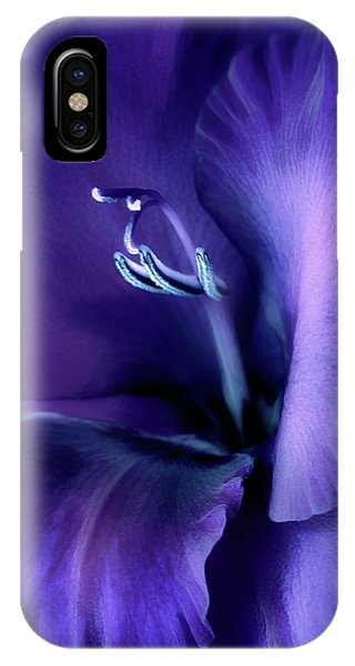 Purple Velvet Gladiolus Flower IPhone Case