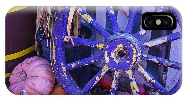 Wagon Wheel iPhone Case - Purple Wagon Wheel by Garry Gay