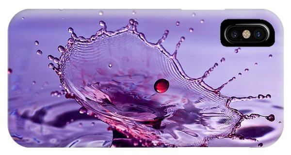 Purple Water Splash IPhone Case