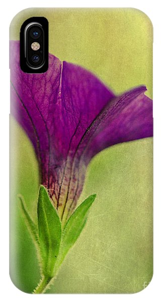 Purple Wave Petunia IPhone Case