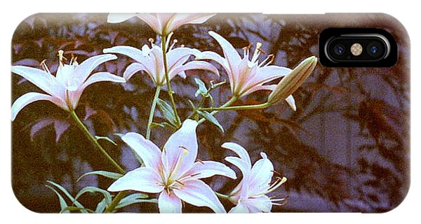 Purple/white Lily IPhone Case