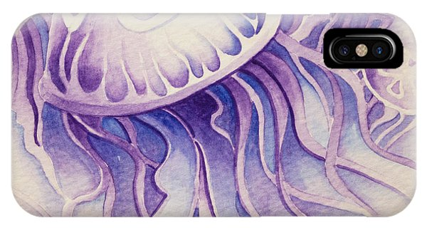 Purpura Jellyfish IPhone Case