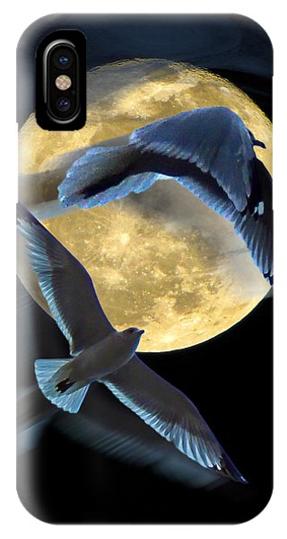Pursuit Over The Moon. IPhone Case