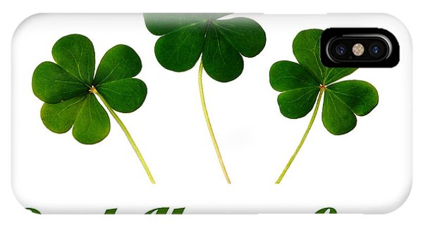 St. Patricks Day iPhone Case - Push Your Luck Poster by Celestial Images