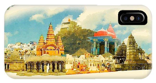 Temple iPhone Case - Pushkar City Panoramic Vector Water by Trentemoller