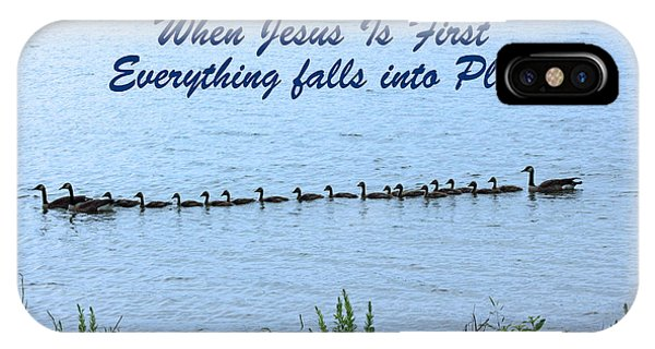 Put Jesus First IPhone Case