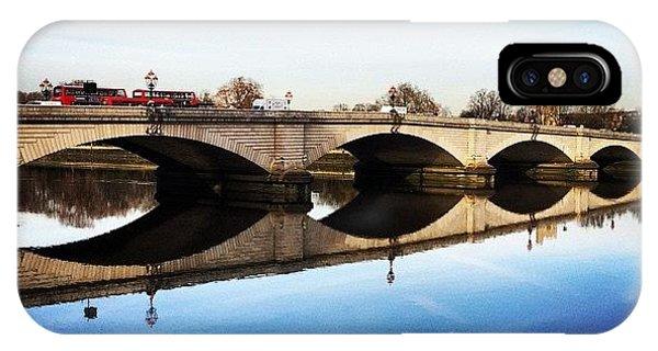 London Bridge iPhone Case - Putney Bridge 2014 by Geoff Pestell