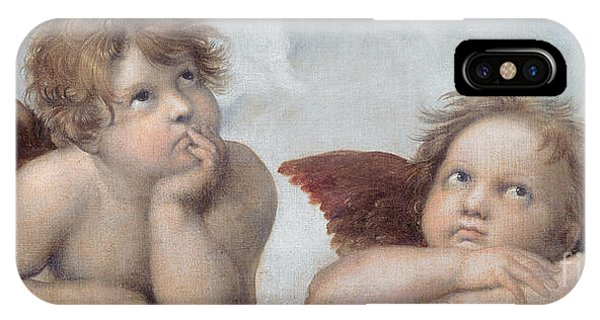 Raphael iPhone Case - Putti Detail From The Sistine Madonna by Raphael