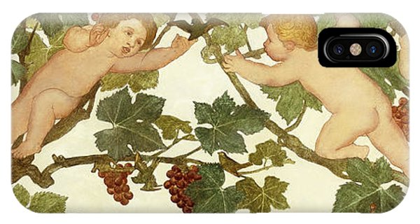 Art And Craft iPhone Case - Putti Frolicking In A Vineyard by Phoebe Anna Traquair