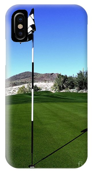 Putting Green And Flag On Golf Course IPhone Case