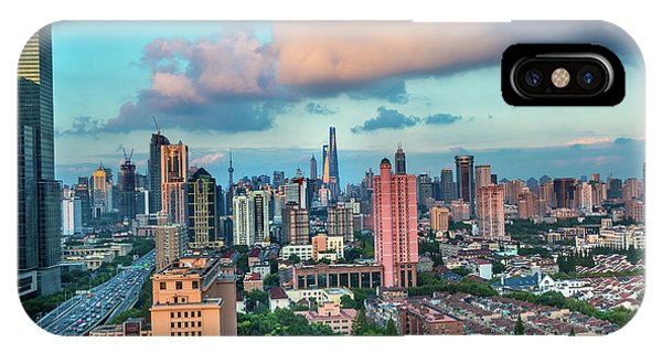 Puxi Pudong Buildings World Modern Phone Case by William Perry