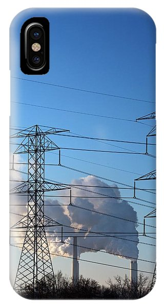 Plumes iPhone Case - Pylons And Coal-fired Power Station by Jim West