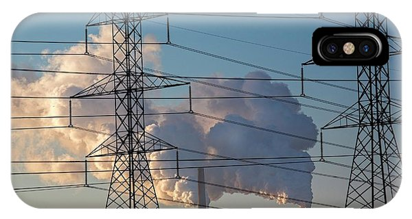 Plumes iPhone Case - Pylons And Power Station by Jim West