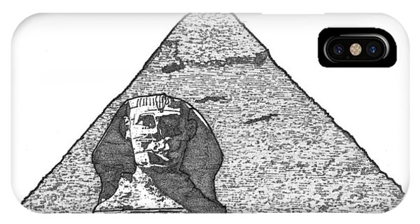 Pyramid And Sphinx IPhone Case