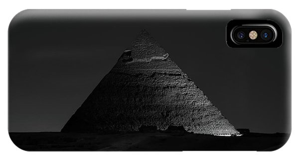 Egyptian iPhone X Case - Pyramid At Night by Vincent Chen
