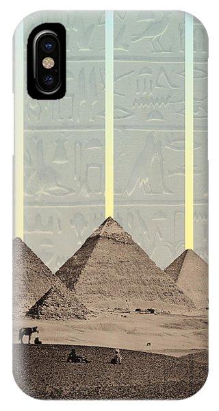 iPhone Case - Pyramids Hieroglyphs Spotlights by