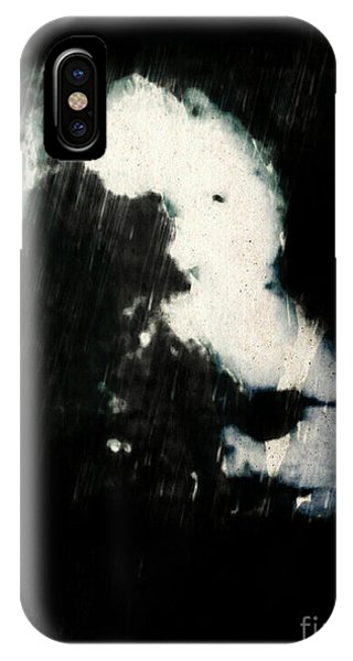 IPhone Case featuring the mixed media Qof by Daniel Brummitt