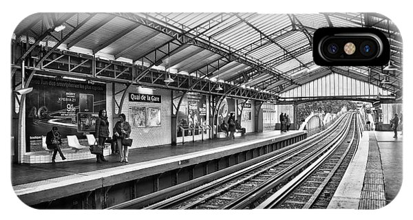 Paris Metro iPhone Case - Quai De La Gare by Delphimages Photo Creations