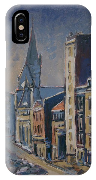 Briex iPhone Case - Quai-sur-meuse Liege by Nop Briex