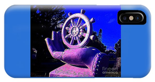 Buddhist Dharma Wheel 2 IPhone Case