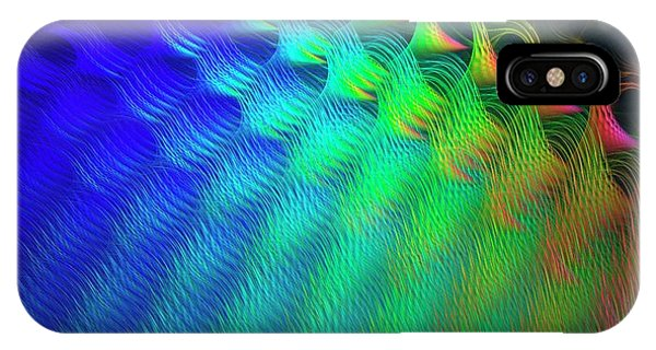 Fractal iPhone X Case - Quantum Chromodynamics by David Parker