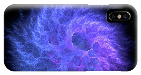 Fractal iPhone X Case - Quantum Gravity by David Parker