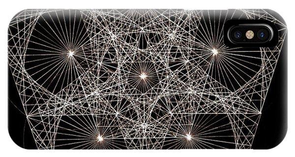 Rectangles iPhone X Case - Quantum Star II by Jason Padgett