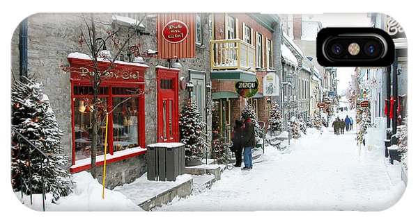 Quebec City In Winter IPhone Case