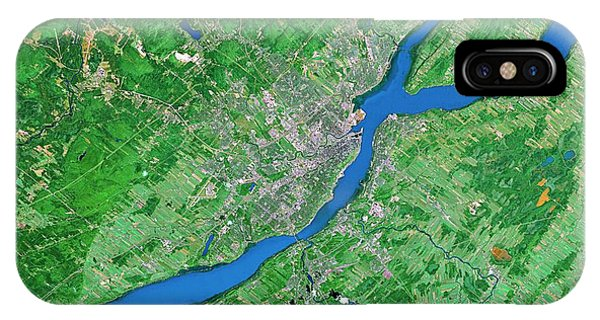 Quebec City iPhone Case - Quebec City by Worldsat International/science Photo Library