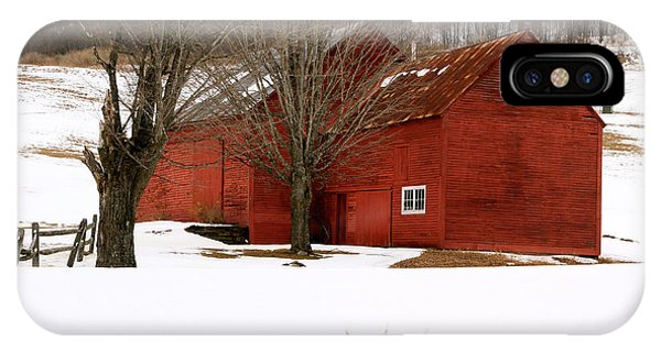Quechee Red Barn IPhone Case
