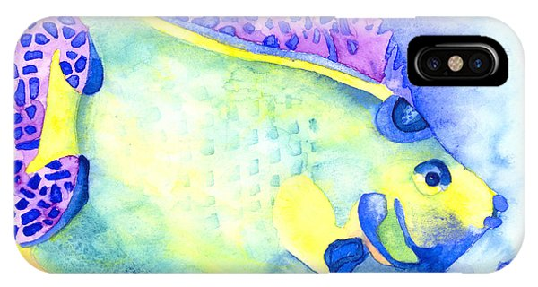 Queen Angelfish IPhone Case