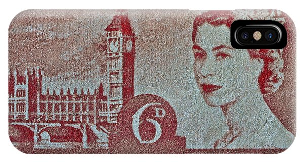 Queen Elizabeth II Big Ben Stamp IPhone Case