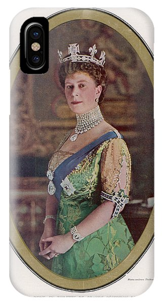 Queen Mary (1867 - 1953) Wearing Phone Case by Mary Evans Picture Library